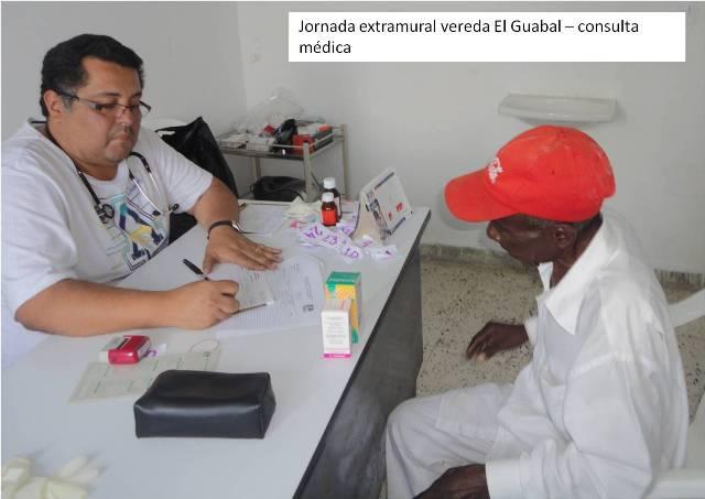 Jornada extramural vereda el Guabal  - Consulta médica