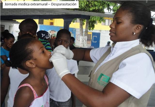 Jornada médica extramural - Desparasitación