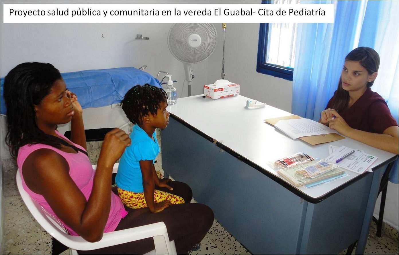 Proyecto salud pública y comunitaria en la vereda El Guabal - Cita de Pediatría