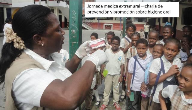 Jornada medica extramural - charla de prevención y promoción sobre higiene dental